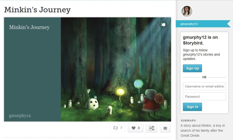 Online story builder; Storybird