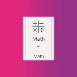Math icon of a feature in OneNote